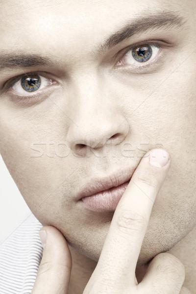 портрет красивый мужчина лице человека Сток-фото © dolgachov