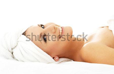 happy spa Stock photo © dolgachov