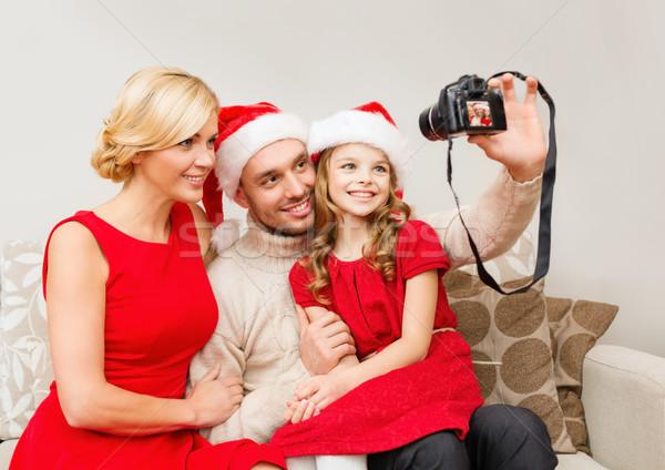 Gülen aile yardımcı Stok fotoğraf © dolgachov