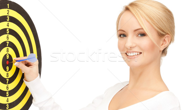 üzletasszony darts cél fényes kép nő Stock fotó © dolgachov