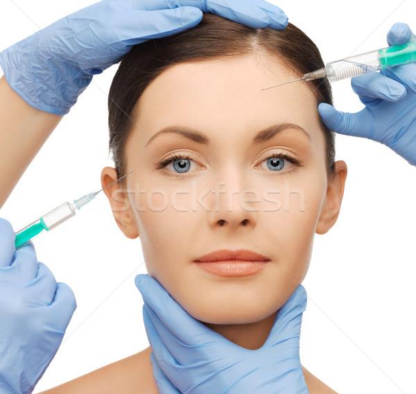 Enjeksiyon sağlık güzellik kadın kız cilt Stok fotoğraf © dolgachov