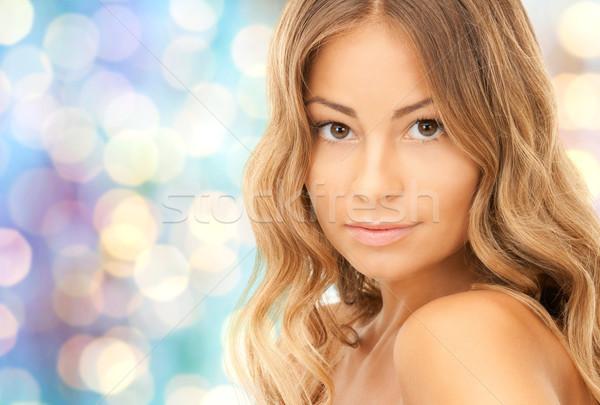 Schönen Gesicht Schönheit Menschen Gesundheit Stock foto © dolgachov