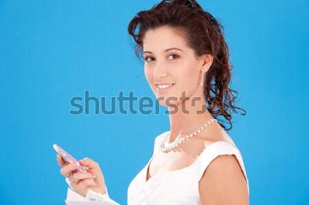 Vrouw avondkleding diamant mensen vakantie Stockfoto © dolgachov