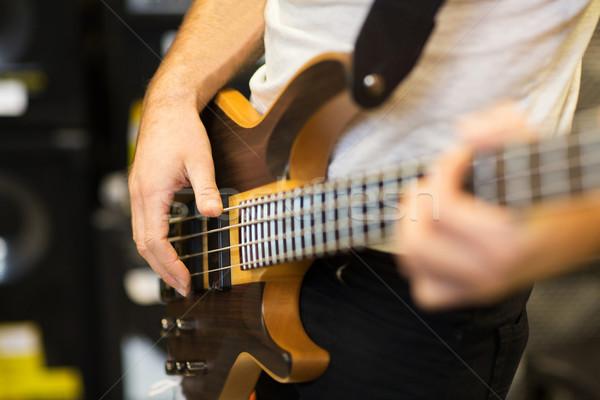 Muzikant gitaar muziek studio mensen Stockfoto © dolgachov