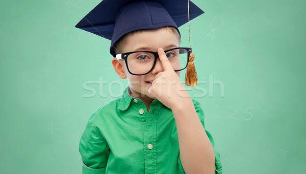Bacharel seis óculos infância escolas Foto stock © dolgachov