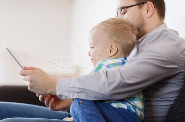 отцом сына играет домой семьи детство Сток-фото © dolgachov