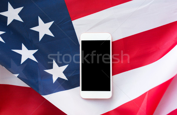 Amerikan bayrağı teknoloji amerikan gün Stok fotoğraf © dolgachov