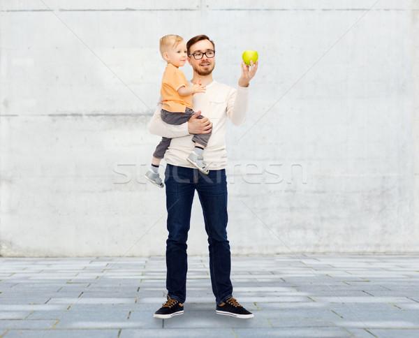 幸せ 父 緑 リンゴ ストックフォト © dolgachov