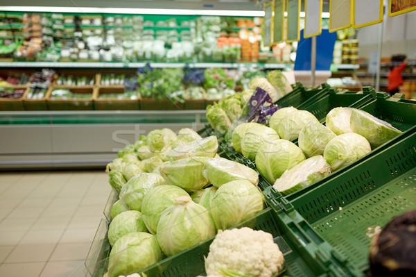 キャベツ 市場 販売 収穫 ストックフォト © dolgachov