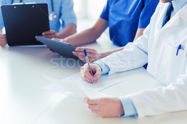 Feliz médicos seminario hospital educación Foto stock © dolgachov