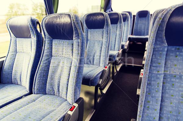 travel bus interior and seats Stock photo © dolgachov