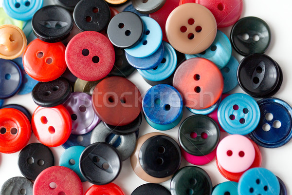 close up of sewing buttons Stock photo © dolgachov