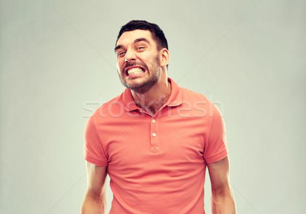 сердиться человека серый эмоций жестокость гнева Сток-фото © dolgachov