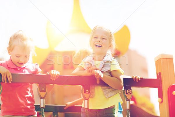 Szczęśliwy dzieci boisko lata dzieciństwo Zdjęcia stock © dolgachov