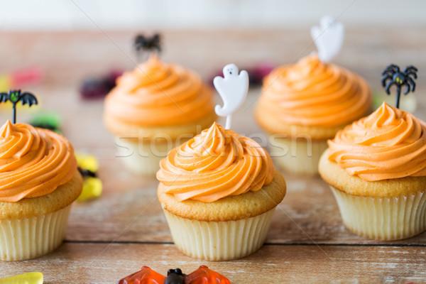 Halloween festa tabela comida Foto stock © dolgachov