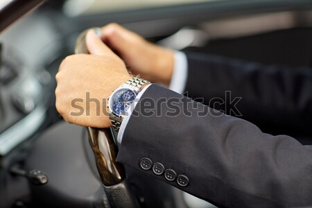 criminal with knife and jewelry at crime scene Stock photo © dolgachov