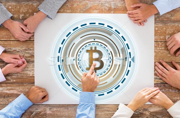 Stok fotoğraf: Iş · ekibi · eller · bitcoin · iş · finanse