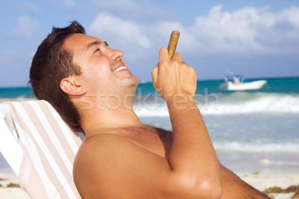smoker Stock photo © dolgachov