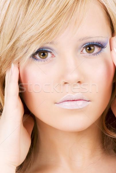 Jasne zdjęcie dziewczyna twarz Zdjęcia stock © dolgachov