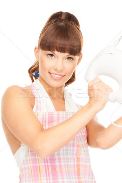 主婦 ミキサー 明るい 画像 美しい 白 ストックフォト © dolgachov