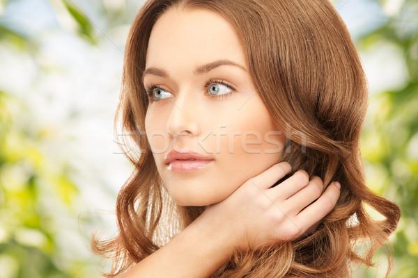 美人 長髪 明るい 画像 女性 自然 ストックフォト © dolgachov