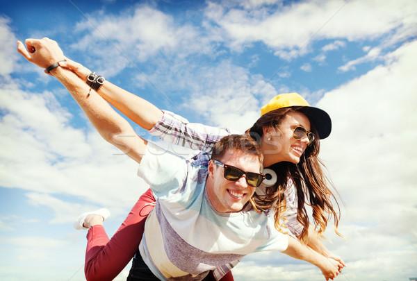 青少年 外 夏 休日 十代の ストックフォト © dolgachov