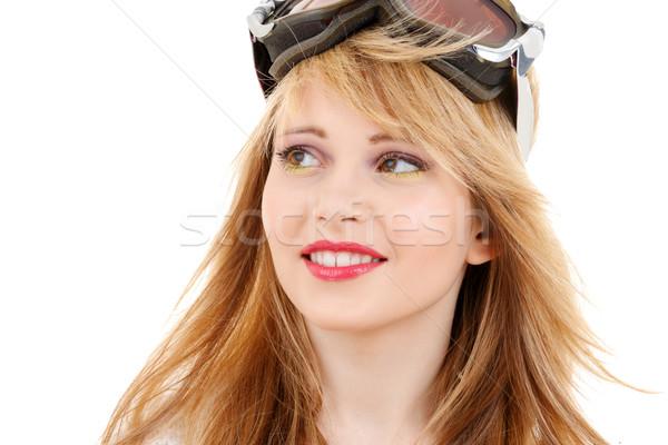 улыбаясь сноуборд темные очки люди спортивных Сток-фото © dolgachov