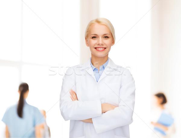 улыбаясь женщины врач группа здравоохранения медицина Сток-фото © dolgachov