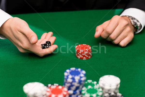 ポーカー プレーヤー サイコロ チップ カジノ ギャンブル ストックフォト © dolgachov