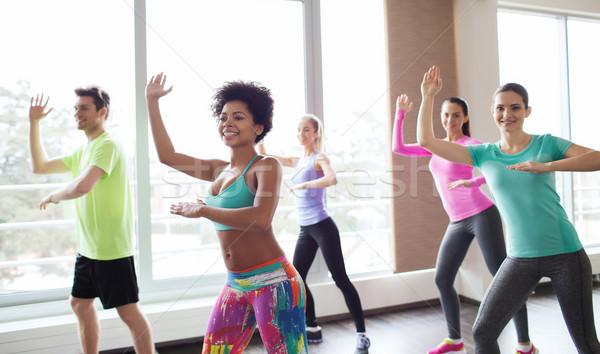 Stockfoto: Groep · glimlachend · mensen · dansen · gymnasium · studio