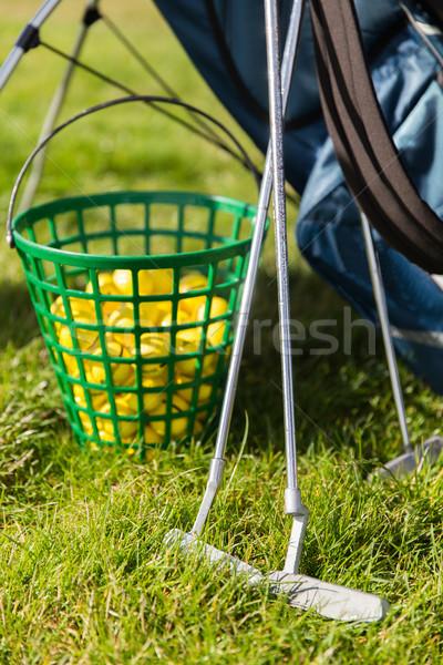 гольф клуба корзины трава Сток-фото © dolgachov