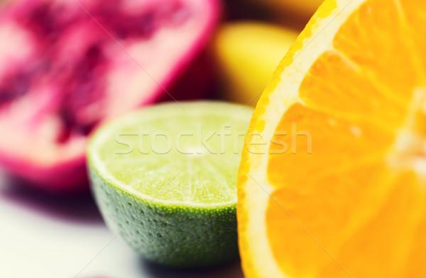 Frescos jugoso naranja cal alimentación saludable Foto stock © dolgachov