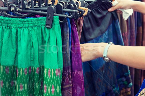 Eller sokak pazar satış Stok fotoğraf © dolgachov