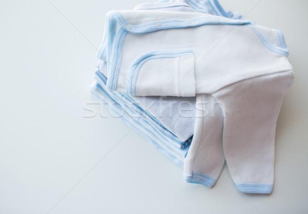 Bebê meninos roupa recém-nascido tabela Foto stock © dolgachov