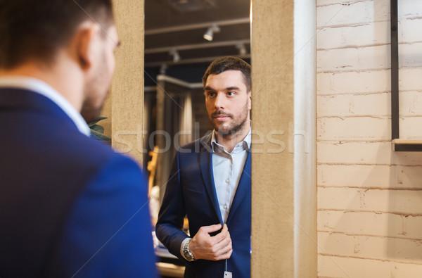 Uomo giacca specchio abbigliamento store vendita for Specchio uomo