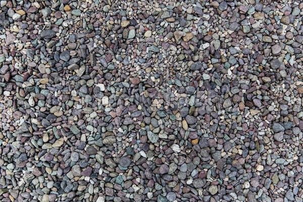 close up of beach pebble stones Stock photo © dolgachov