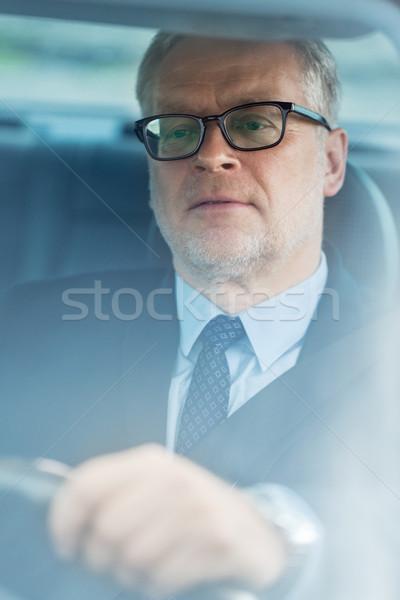 старший бизнесмен вождения автомобилей транспорт командировка Сток-фото © dolgachov
