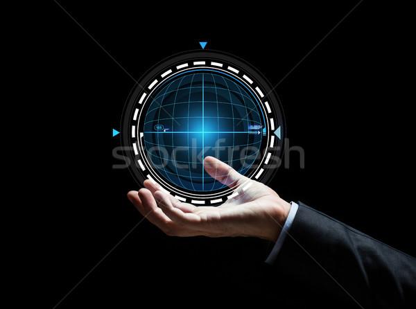 бизнесмен стороны голограмма деловые люди киберпространство Сток-фото © dolgachov