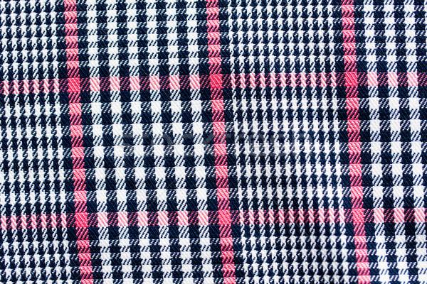 Közelkép kockás textil szövet textúra ruházat Stock fotó © dolgachov