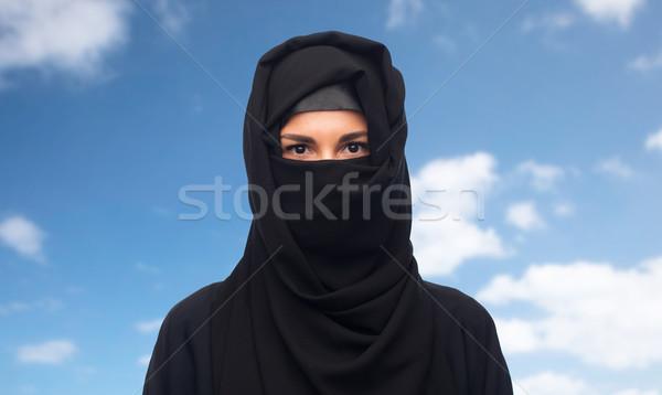 Musulmans femme hijab blanche religieux personnes Photo stock © dolgachov