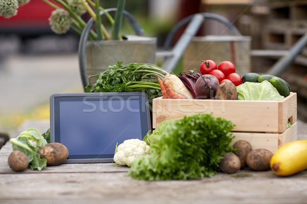 Légumes ferme récolte alimentaire Photo stock © dolgachov