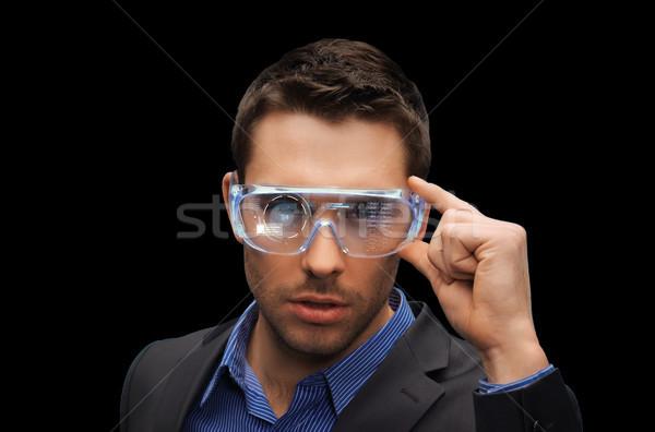 Affaires réalité lunettes 3d technologie gens d'affaires Photo stock © dolgachov
