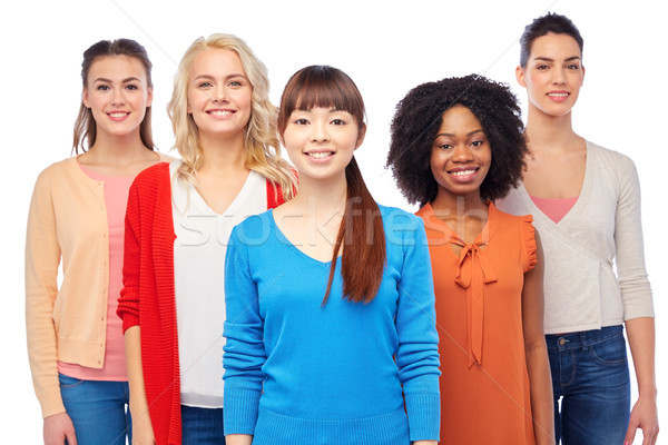 international group of happy smiling women Stock photo © dolgachov
