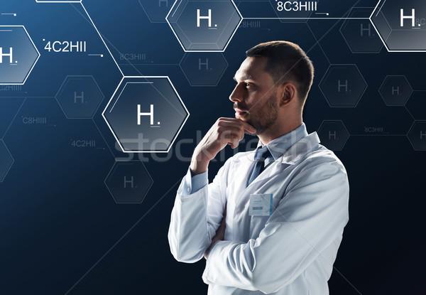 Bilim adamı sanal kimyasal formül projeksiyon bilim Stok fotoğraf © dolgachov