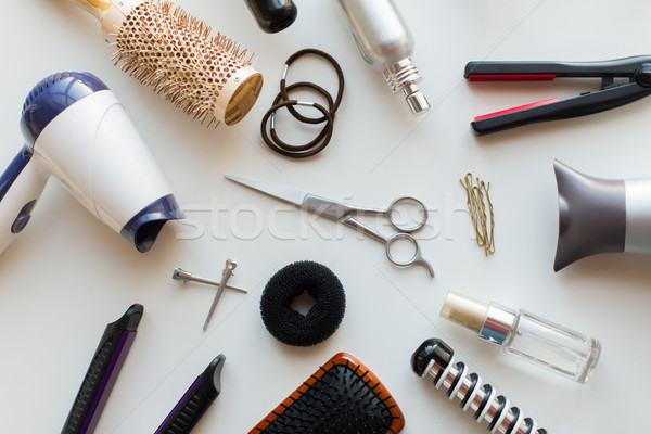 scissors, hairdryers, irons and brushes Stock photo © dolgachov