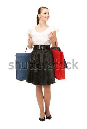торговых черное платье элегантный Сток-фото © dolgachov