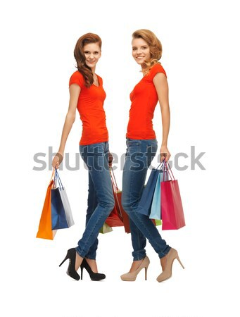 Foto d'archivio: Shopping · signore · felice · moda · bellezza