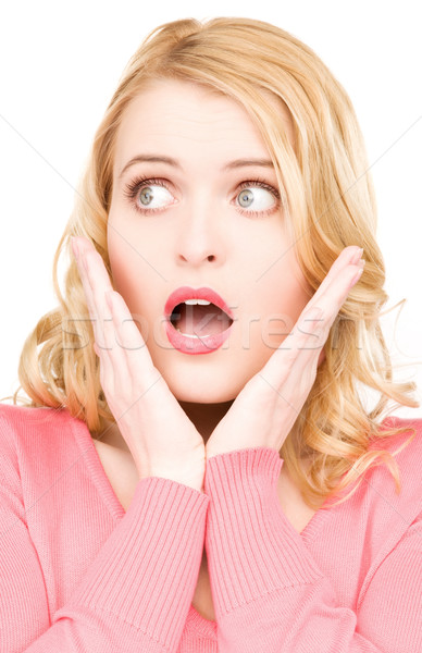 surprised woman face Stock photo © dolgachov