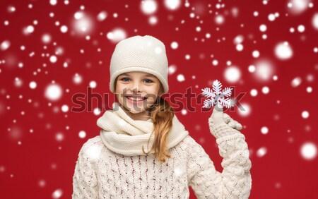 サンタクロース ヘルパー 少女 ランジェリー ギフトボックス 画像 ストックフォト © dolgachov