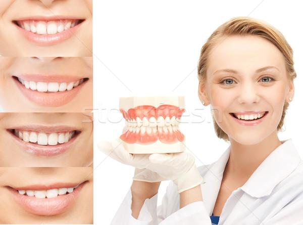 Médico sonrisas salud médicos salud medicina Foto stock © dolgachov